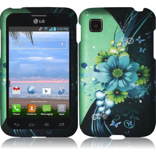 LG Optimus Dynamic II LG39C L39C Case - (TechAccess) Adorable Flower Hard Cover Protector for LG Optimus Dynamic II LG39C L39C - with Gift Box By Tech Accessories (Lg Optimus Dynamic Ii Covers compare prices)