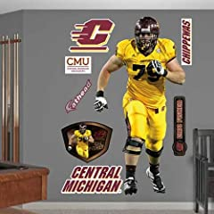Buy NCAA Central Michigan Chippewas Eric Fisher Wall Graphic by Fathead