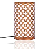 Height of Designs Septagon 40-Watt Table Lamp (Antique Orange and White)