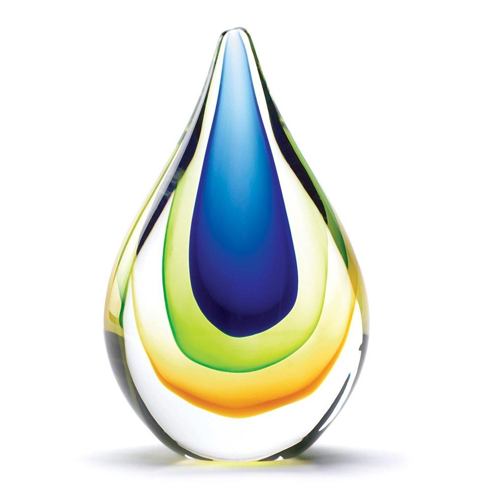 Amazon.com - Gifts & Decor Galaxy Art Color Swirl Glass Vase Home ...