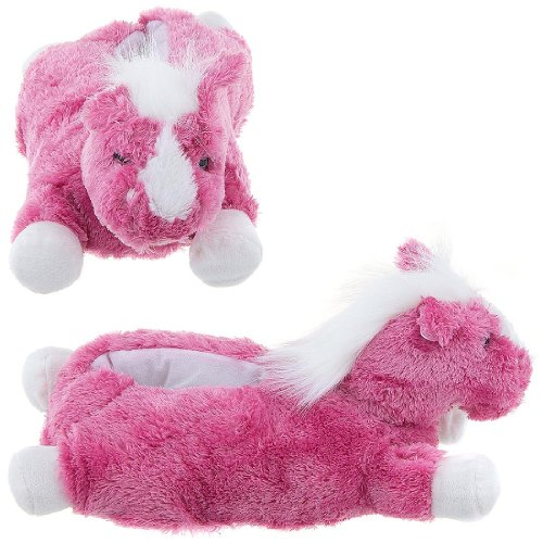Cheap Pink Horse Animal Slippers for Women (B009TH3IPO)