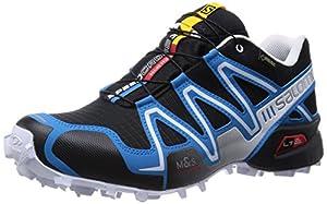 Salomon Speedcross 3 GTX Trail Laufschuhe black-methyl blue-white - 42
