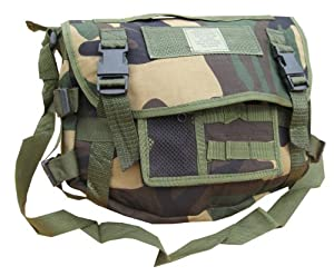 Zip Zap Zooom Mens Army Retro Combat Cargo Canvas Travel Shoulder Bag Messenger Satchel