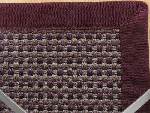 astra sisal teppich veracruz farbe basalt bord re aubergine baubedarf. Black Bedroom Furniture Sets. Home Design Ideas