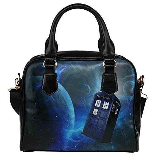 Grrl Tardis Women Leather Shoulder Bag Handbag Satchel Bag Purse