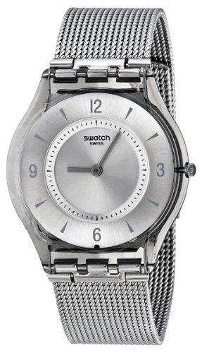 Swatch Metal Knit Grey Milanese Ladies Watch