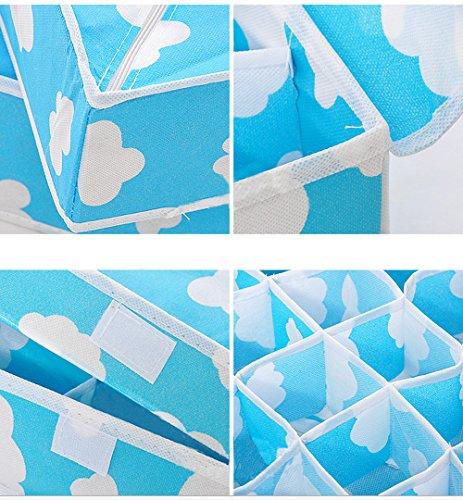 Carlton Carlton en fibre de charbon de bambou anti-poussière séparateurs de tiroir armoire pliable organisateur pour écharpe Serviettes Soutien-gorge Sous-vêtements Boîtes de rangement, pour vêtements, bijoux, sous-vêtements, soutien-gorge, Chaussettes et cravates Lot de 3+ 6cellules 7cell + 20cel