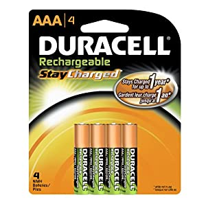 4-pack Duracell StayCharged Rechargeable Batteries: AA or AAA $6.78
