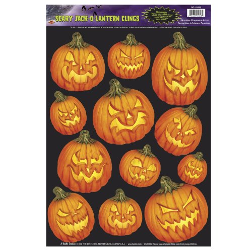 Scary J-O-L Clings Party Accessory (1 count) (12/Sh)