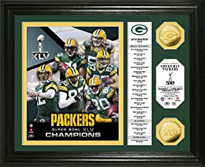 NFL Super Bowl XLV Champions 24KT Gold Coin Banner Photo Mint