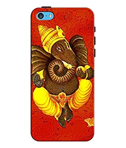 EU4IA LORD GANESHA MATTE FINISH 3D Back Cover Case For iPhone 5c - D296