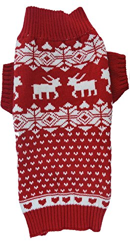 Dog-Reindeer-Holiday-Pet-Clothes-Sweater-for-Dogs-Puppy-Kitten-Cats-Classic-Red