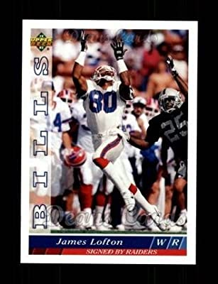 1993 Upper Deck # 104 James Lofton Buffalo Bills (Football Card) Dean's Cards 8 - NM/MT