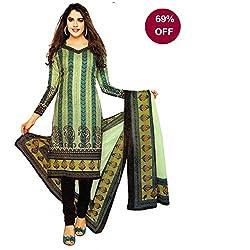 SUMMER SPECIAL SALE OFFER!!!! RSS SGS Women's Cotton Unstiched Dress Material (RSS/SGS 205/2015_Black Multi Color_Free Size)