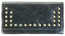 Fancy Designer Ladies Wallet #M-98-218 (Black)