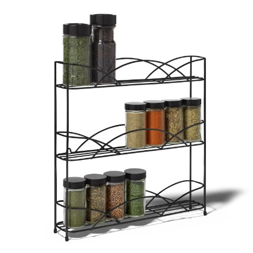 Small Countertop Spice Rack : Spectrum Diversified Countertop 3-Tier Spice Rack, Black Hardware ...