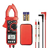 Digital Clamp Meter, 4000 Counts Eventek ET820 Auto-ranging Multimeter with NCV For Measuring Non-contact AC / DC 600V Volt / 600A Amp / Frequency / Resistance / Capacitance / Continuity / Diodes