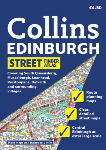 Collins Edinburgh Street Finder Atlas: A5 Edition (Collins Travel Guides)