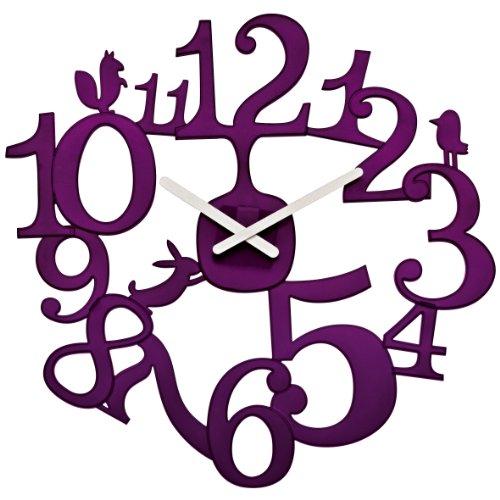 Koziol Pi:P Wall Clock, Transparent Plum