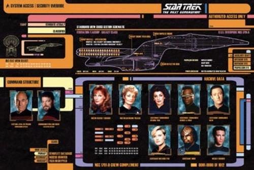 poster-Star Trek Next Gen-Cast nuovo muro art ufficiale regali giocattoli 241282