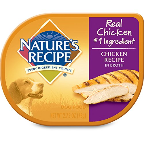 NATURE'S RECIPE 799661 24-Pack Chicken Recipe in Broth for Pets, 2.75-Ounce