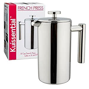 buy kuissential 8 cup stainless steel french press coffee plunger press pot cafetiere online. Black Bedroom Furniture Sets. Home Design Ideas