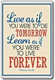 Mahatma Gandhi, Live As If You Were To... - Motivational Quotes Fridge Magnet