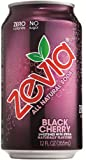 Zevia All Natural Soda, Black Cherry, 12-Ounce Cans (Pack of 24)