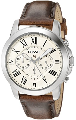 Fossil Q Grant Gen 1 Hybrid Brown Leather Smartwatch