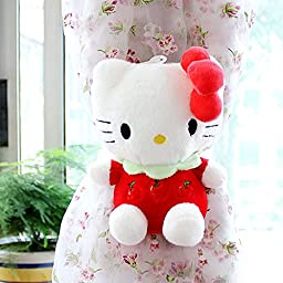 GREENEARTH Drapery curtains Clip Bind for curtain drapes/panels curtain buckle curtain decoration Kids Art Craft Display- Hello Kitty gift ideal 2pcs(red)