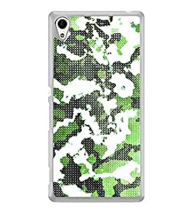 Army Fatigue Pattern 2D Hard Polycarbonate Designer Back Case Cover for Sony Xperia Z4