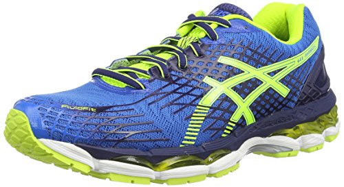 ASICS Gel-Nimbus 17 - Scarpe da corsa da uomo, colore blu (electric blue/flash yellow/ind 3907), taglia  44 EU (9 UK)