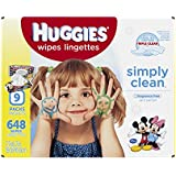 Huggies Simply Clean Baby Wipes, Refill, 648 Count(Packaging May Vary)