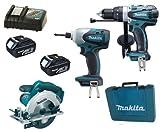 Makita 18V LXT Li Ion LXT202 Kit BHP458, BTD140 & BSS611 BSS611Z BSS611Rfe Circular Saw