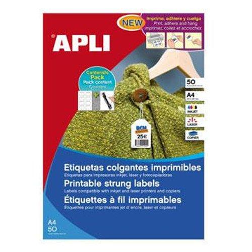 APLI 11947 Etiquettes Blanc