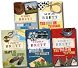Simon Brett The Fethering Mysteries Simon Brett Collection 6 Titles in 5 Books Set (The Torso in the Town, Death on the Downs, The Body on the Beach, Murder in the Museum, death under the dryer, blood at the bookies)