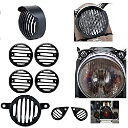 Vheelocityin Combo of Indicator, Eyes, Tail and Head Light Grill for Royal Enfield Classic 350 / 500