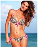 Wild Leopord Print 2pcs Sexy Ladies Women Push up Padded Bikini Trikini Swimwear Swimsuit Bathing Suits