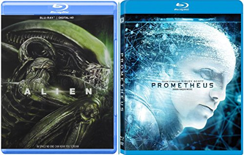 Prometheus & Alien Sci-Fi Horror Blu Ray DVD Movie Set