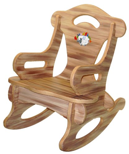 Brown Rocker Rocking Chair Solid Wood Kid Child Baby Boy/Girl Furniture Toy. My Gn