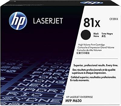 HP 81X (CF281X) Black High Yield Original LaserJet Toner Cartridge