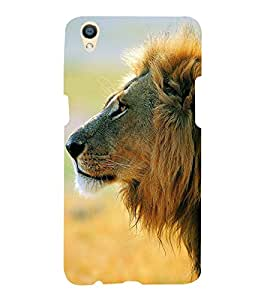Lion at Side face 3D Hard Polycarbonate Designer Back Case Cover for Oppo F1 Plus :: Oppo R9