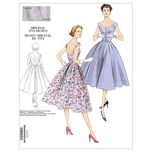 vogue-2960-patron-de-costura-para-vestido-vintage-de-mujer-1-modelo
