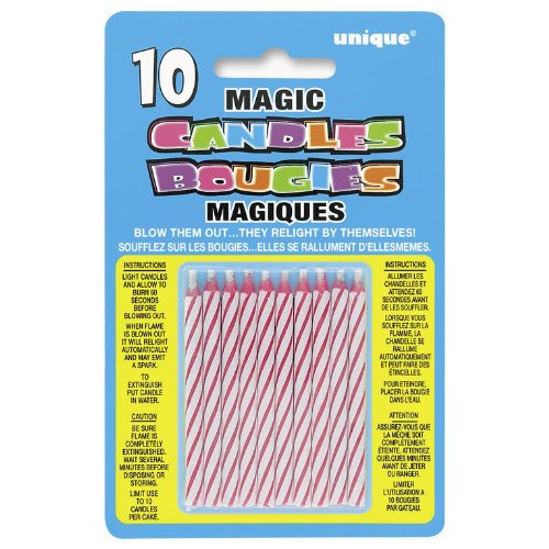 Magic Candle Pink 10 Pack