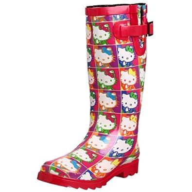 Wonderful Chooka Women39s Hello Kitty Punk Buttons Rain Boot B0018D9DAG 7495