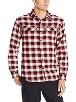 Columbia Camisa Hombre Silver Ridge Flannel Shirt (Rojo / Negro / Blanco)