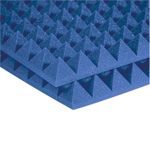 Auralex 2Pyr24Blu 2 Studiofoam Pyramid Panels In Blue 12-2'X4'X2 Panels