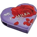 Milka, I love Milka Geschenkherz klein, Romantik, Pralinen, 50g, 6er Pack (6 x 50 g)