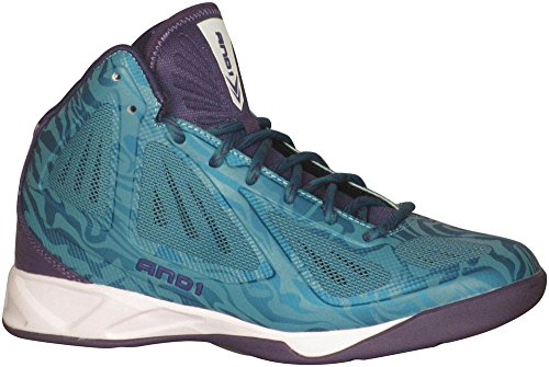 And1 Men's Xcelerate Mid Basketball Teal/Purple 10 D(M) US