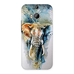 Enticing Elephant Art Back Case Cover for HTC One M8